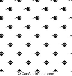 Stingray fish pattern seamless in simple style  illustration