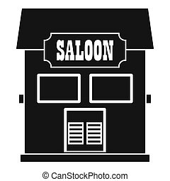Western saloon icon, simple style