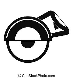 Cut off machine icon, simple style - Cut off machine icon in...