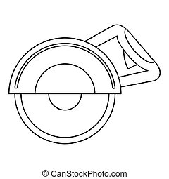 Cut off machine icon, outline style - Cut off machine icon...