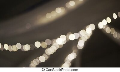 Garland lamp blur - Garland lamp light blur bokeh