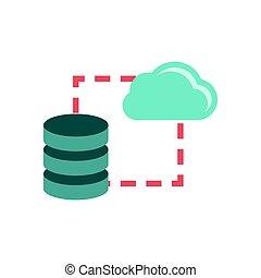 Data storage sync icon - Data storage sync flat icon