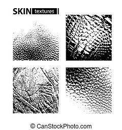 textures set-02 - Skin textures set isolated on white...