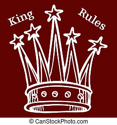 "King Rules - An image of a crown with text ""King Rules""."