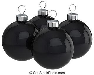 Black christmas balls (Hi-Res)