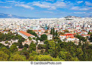 Ancient Agora in Greece - The Ancient Agora and the Stoa of...