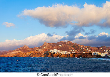 Naxos island aerial view - The Naxos island aerial panoramic...
