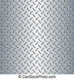 Seamless Diamond Plate Texture - Steel diamond plate pattern...
