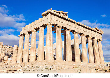 Parthenon Temple in Athens - The Parthenon is a former greek...