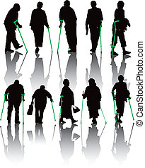 Disabled people collection wshadows