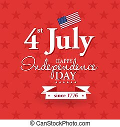 Happy 4th of July - Independence Day card or background....