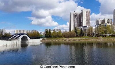 Pond in Zelenograd in Moscow, Russia - Pond in a Zelenograd...