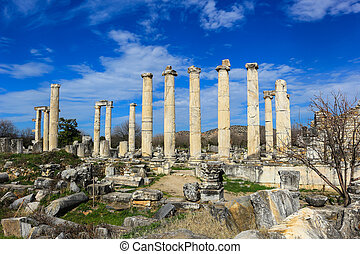 Aphrodite Temple ruins in Aphrodisias Turkey - The Temple of...