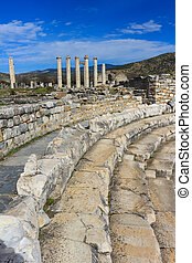 Bouleuterion ajacent from Aphrodite Temple ruins in...