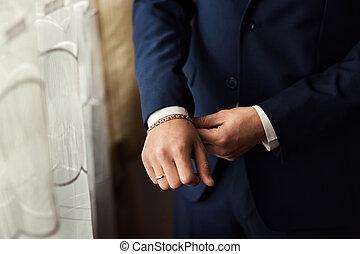 Businessman wears a jacket.Politician, man's style,male...