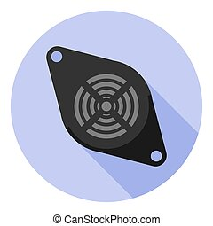 Vector image beeper on a round background