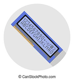 Vector image of an electronic display