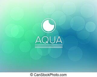 Aquatic and marine bokeh blurred background