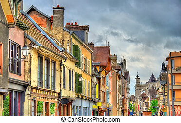 Traditional houses in Troyes, France - Traditional houses on...