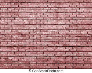 pale red toned brick wall  repeating pattern