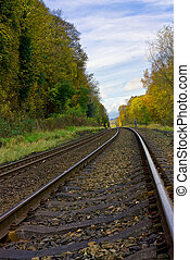 Diminishing perspective - Railway line with diminishing...