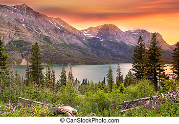 Scenic landscape - Beautiful landscape in Glacier national...