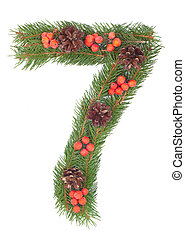 NUMBER 7 - Christmas tree decoration - part of a full set