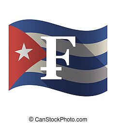 Isolated Cuba flag with a swiss franc sign - Illustration of...