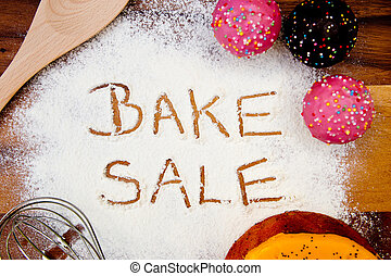 Bake Sale with cake