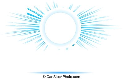bright blue sun rays banner graphic design, vector...