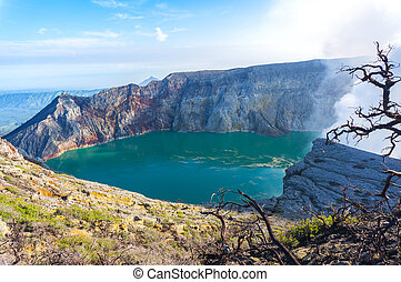 kawah ijen crater at java indonesia
