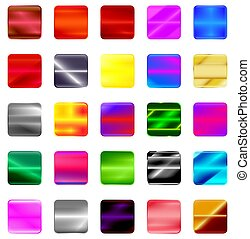 Set of gradient button icons for your design.