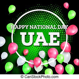 Happy National Day UAE. Vector Illustration.
