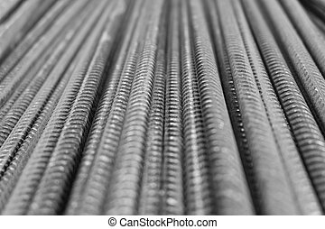 rebar - metal deformed reinforcement bars, steel rods