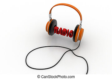 Word radio with head phone