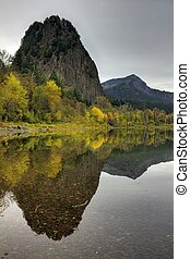 Beacon Rock Reflection - beacon rock located in washington...