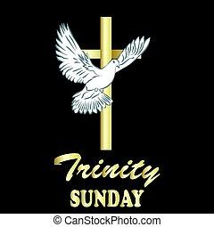 Trinity sunday. Christian church concept. Church sacrament...