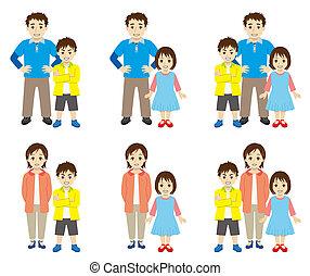 solo, padre, familia
