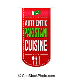 Authentic pakistani cuisine banner design over a white...