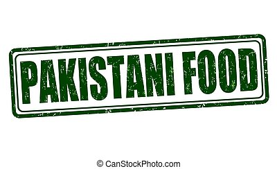 Pakistani food sign or stamp - Pakistani food grunge rubber...
