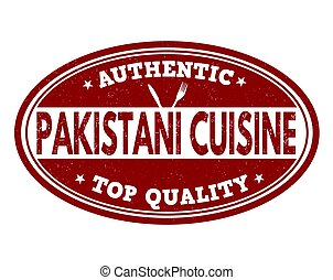Authentic pakistani cuisine sign or stamp - Authentic...