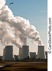 Power plant cooling towers upright V2 - Cooling towers of a...