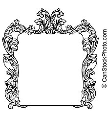 Vintage Imperial Baroque Mirror frame. Vector French Luxury...