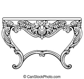 Imperial Baroque Console Table. French Luxury carved...