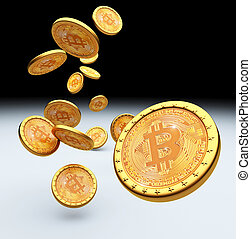 bitcoin 3d background