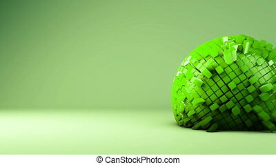 Animation of sphere geometric background - transformation,...