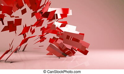 Abstract futuristicgeometric transformation motion graphic...