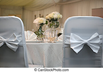Wedding reception - Table set for an event party or wedding...