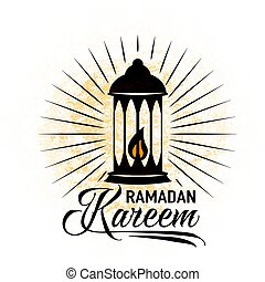 Vector illustration for an Islamic holy holiday of Ramadan....