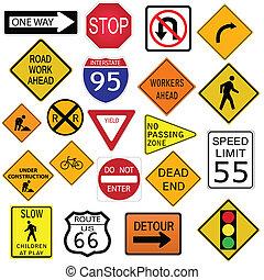 estrada, sinais
